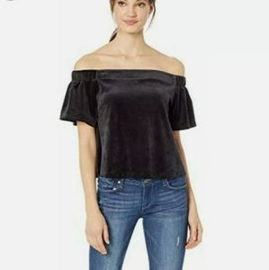 NWT Juicy Couture Sz small velvet Cropped top